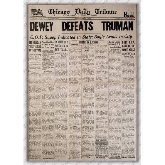 """Dewey Defeats Truman"" Jigsaw Puzzle"