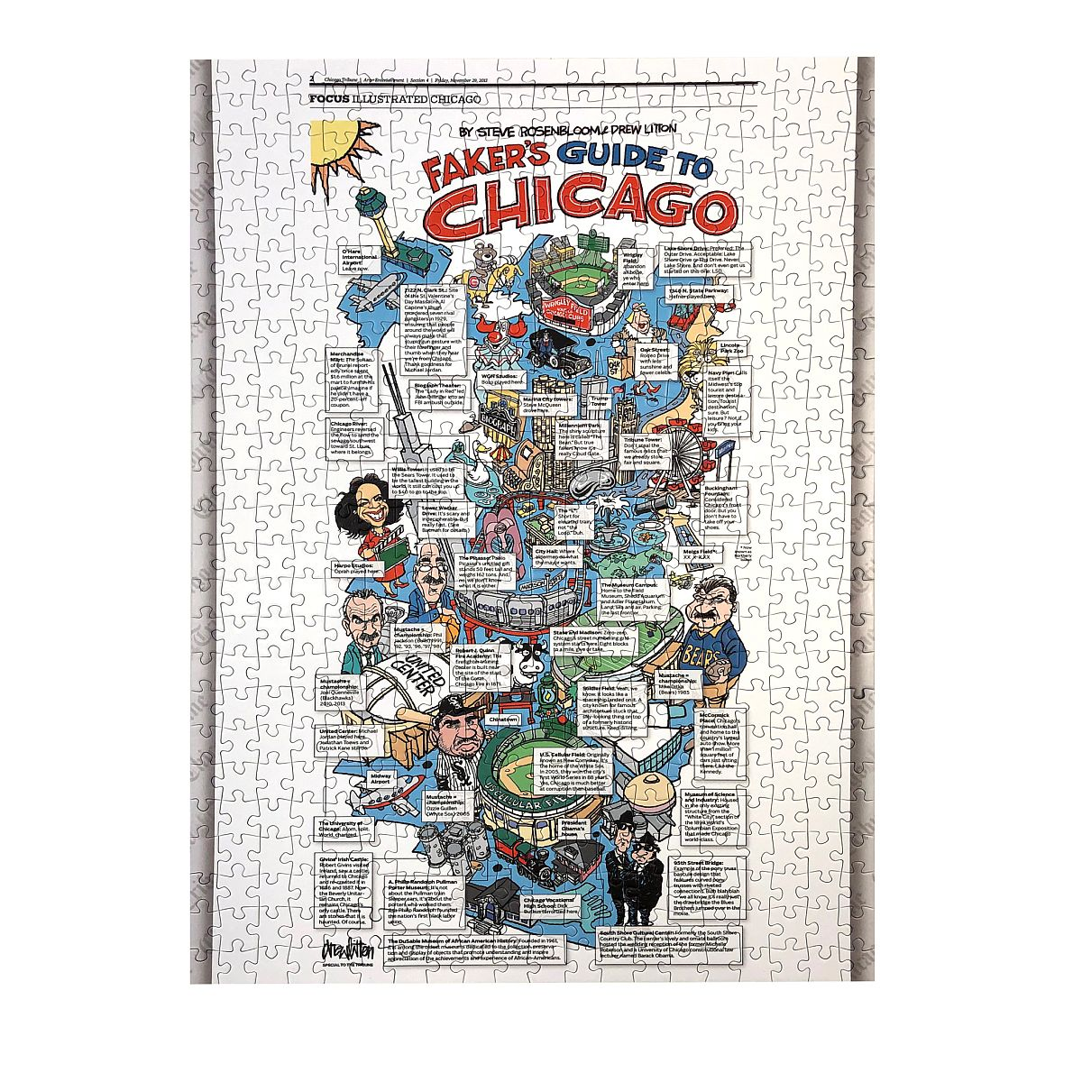 Faker's Guide to Chicago Jigsaw Puzzle