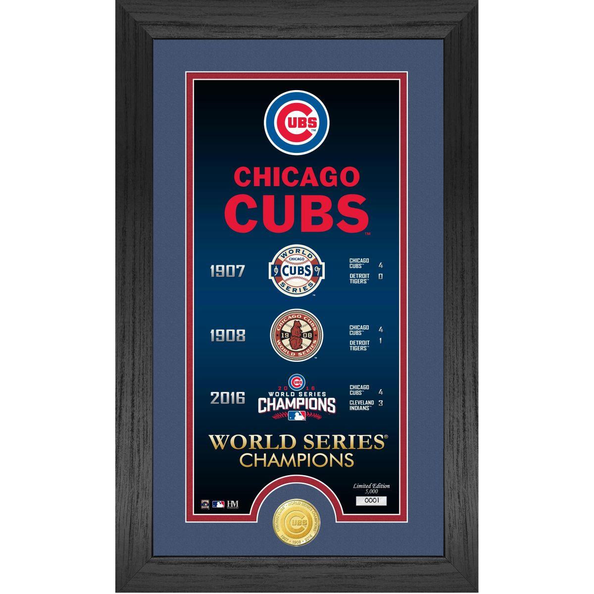 """Chicago Cubs """"Legacy"""" Bronze Coin Photo Mint"""