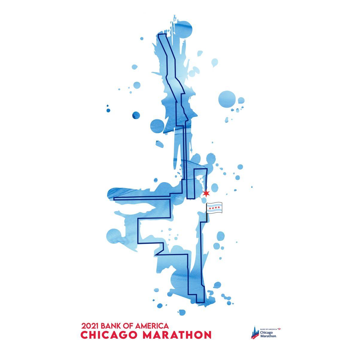 2021 Bank of America Chicago Marathon Map