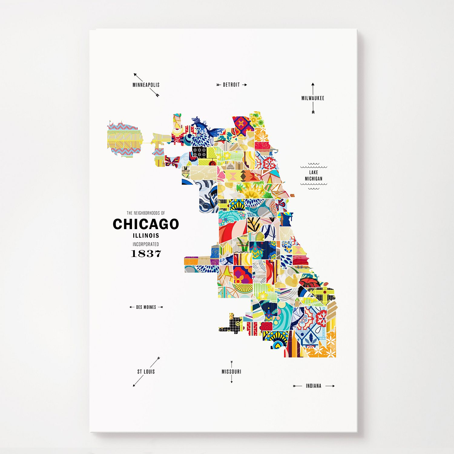 Chicago Map Print Poster