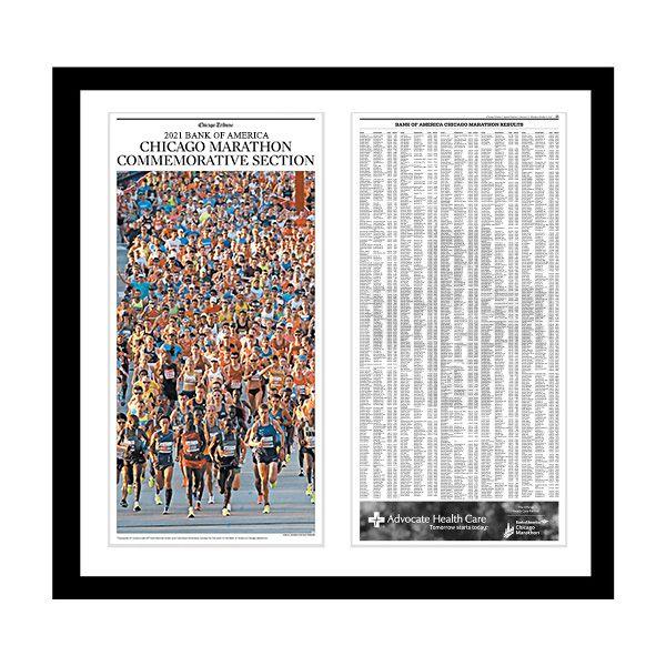 2021 Chicago Marathon Commemorative Results Print