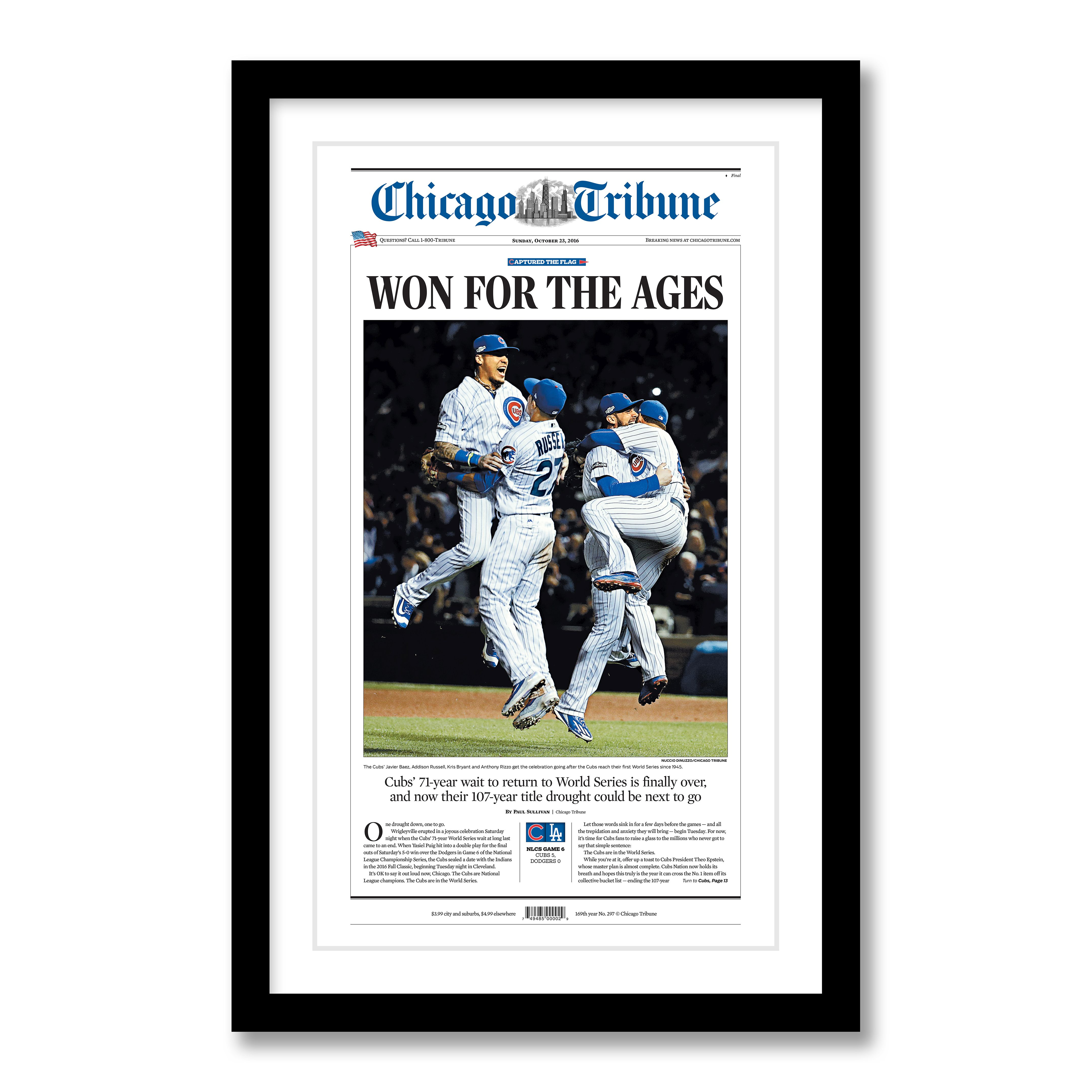 Chicago Cubs 2016 NLCS Champions Front Page Poster
