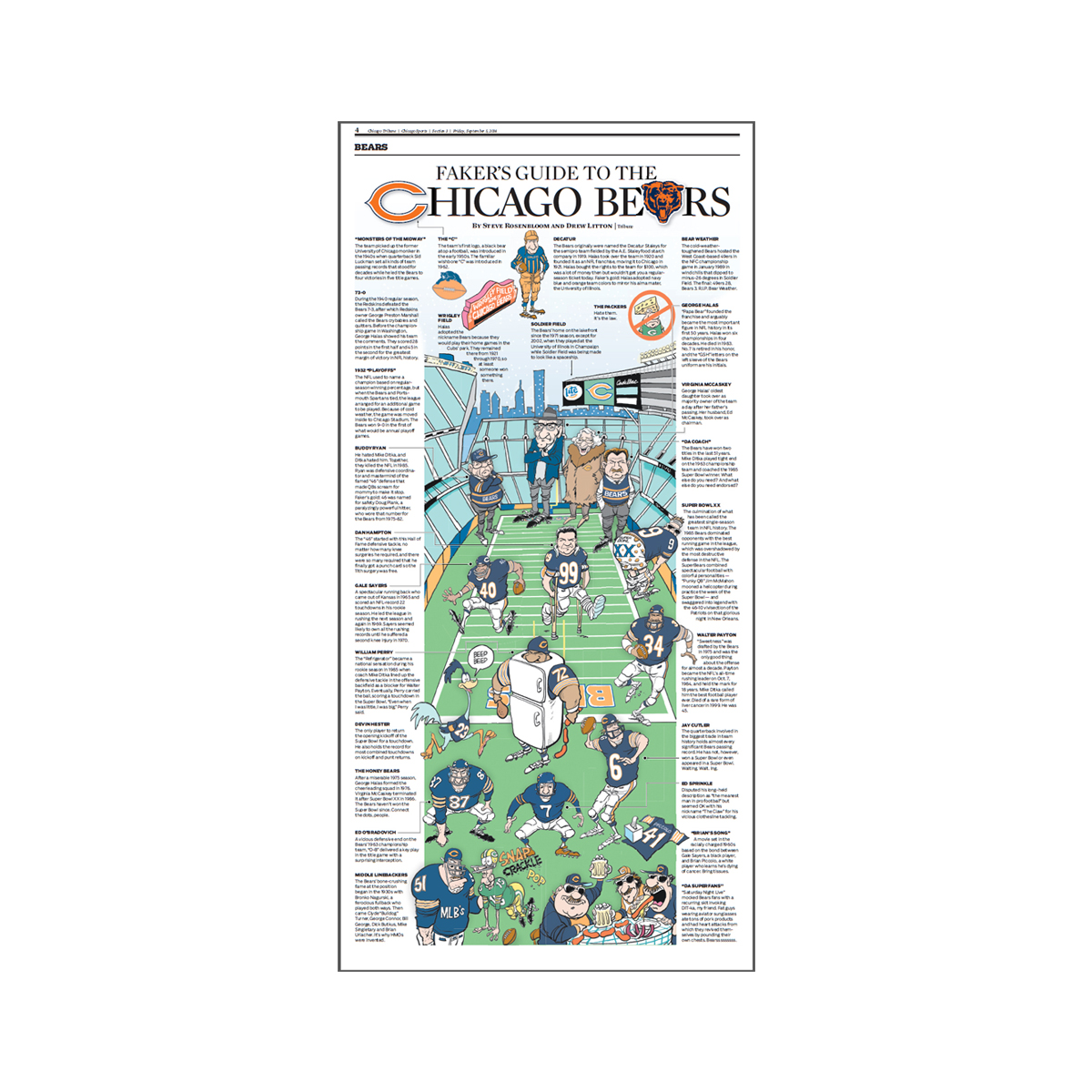 Faker's Guide to the Chicago Bears Poster