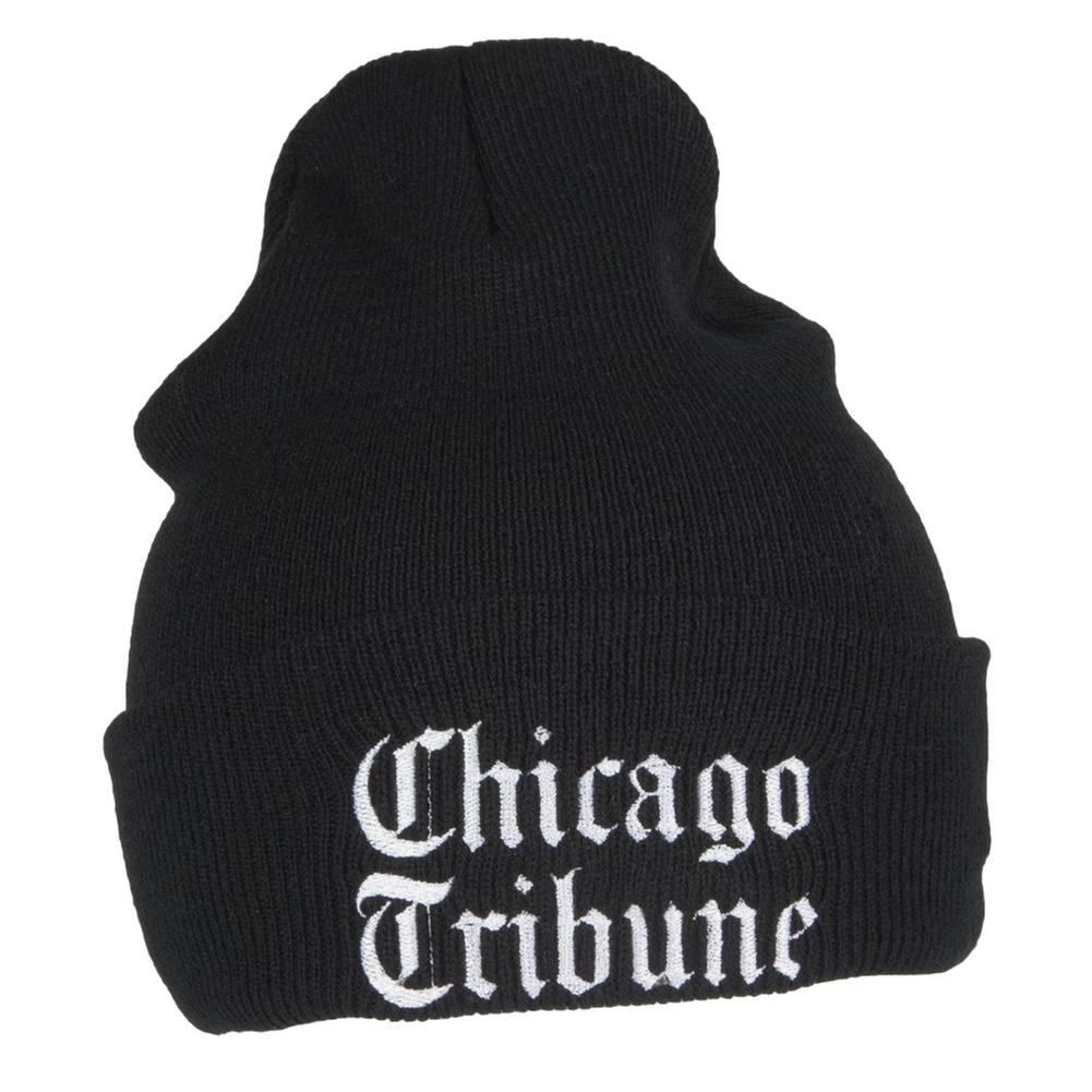 Chicago Tribune Black Knit Beanie