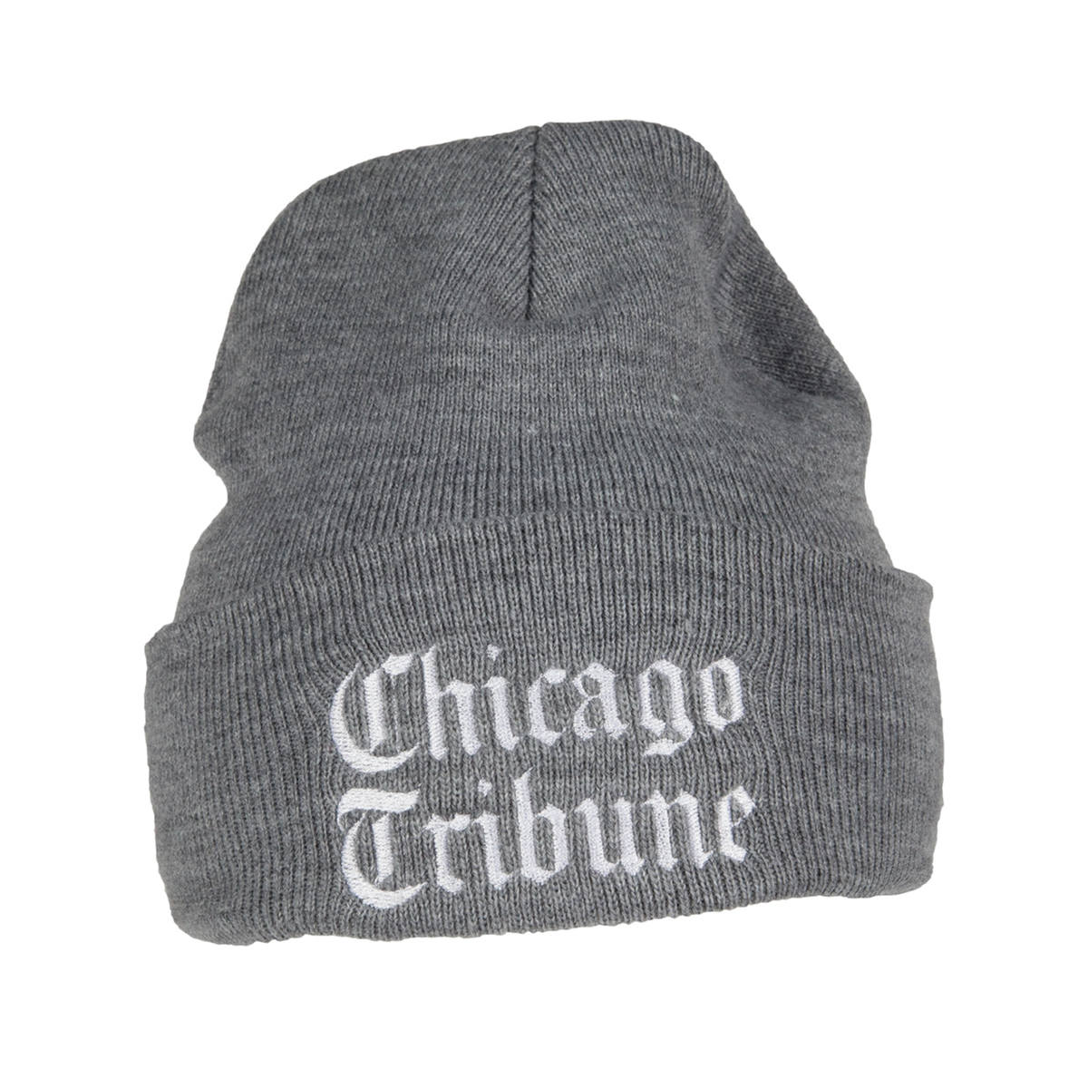 Chicago Tribune Grey Knit Beanie