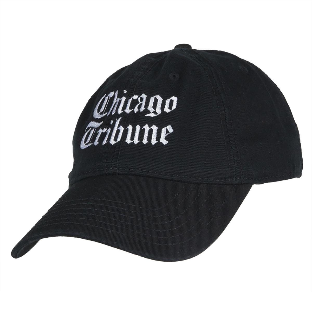 Chicago Tribune Stacked Logo Black Adjustable Cap