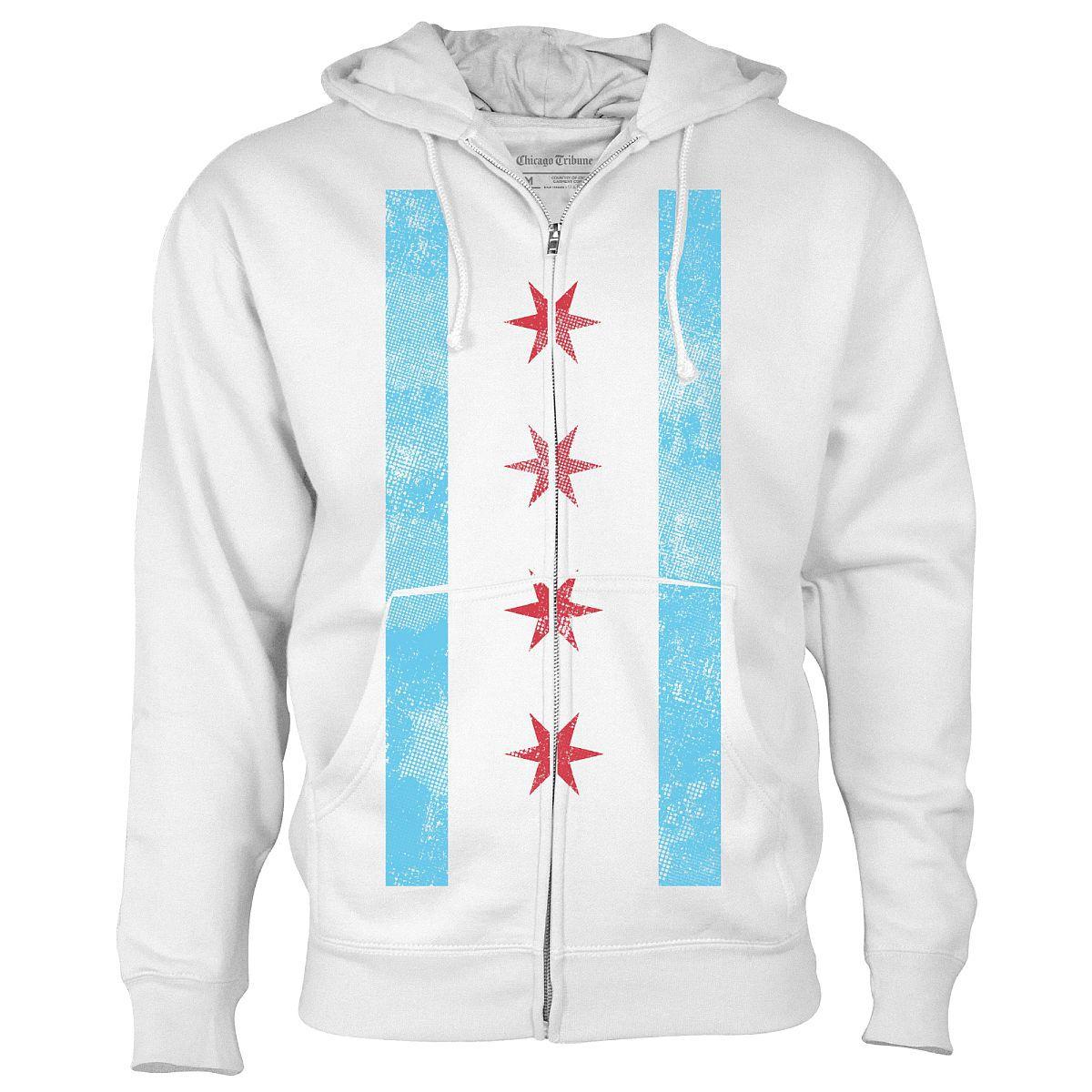 Chicago Flag Full-Zip Fleece Hoodie
