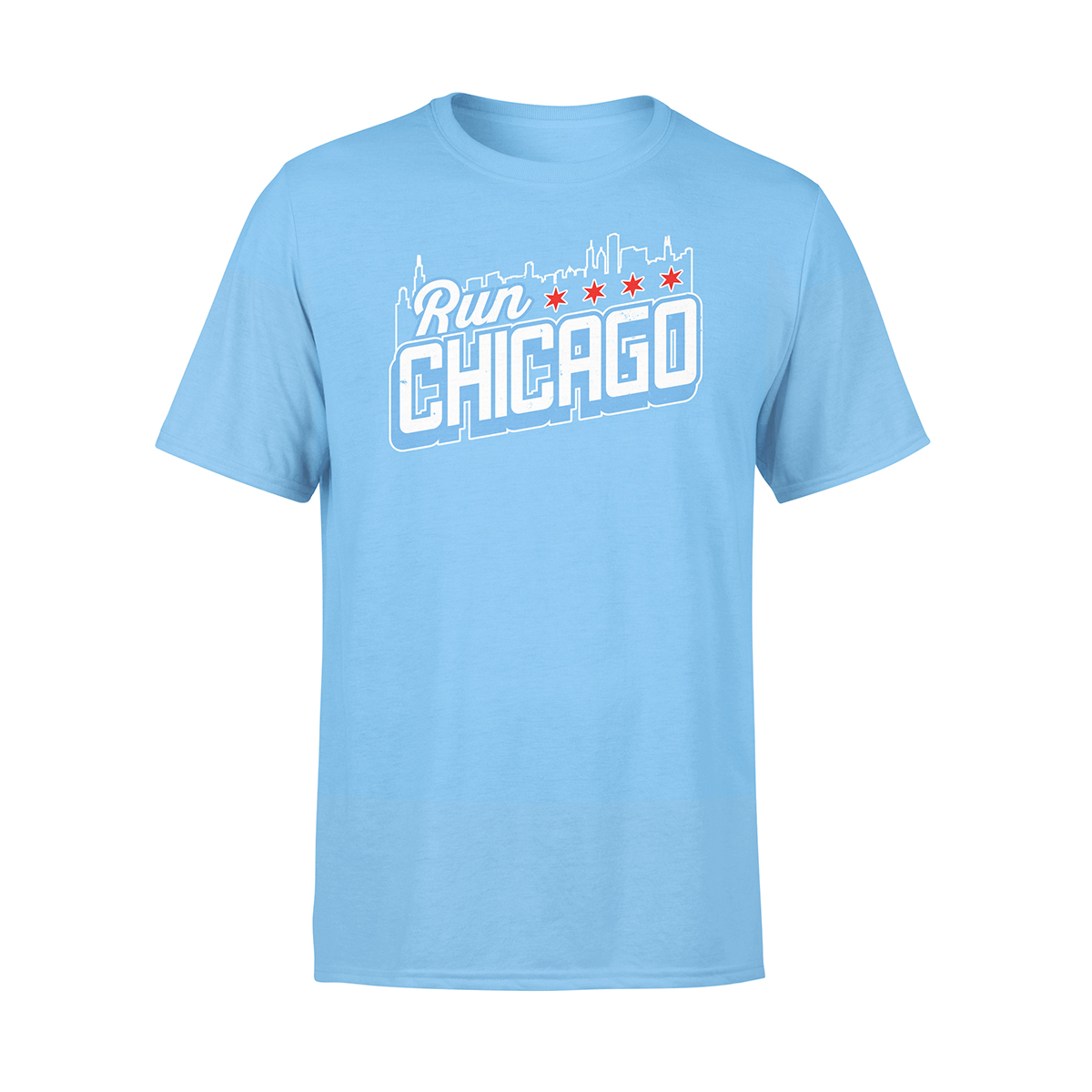 Run Chicago Skyline Crew T-Shirt
