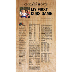 """My First Game"" Customized Plaque"