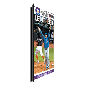 "Chicago Cubs ""Let It Reign"" Sports Front Page Poster Plaque 11/3/16"