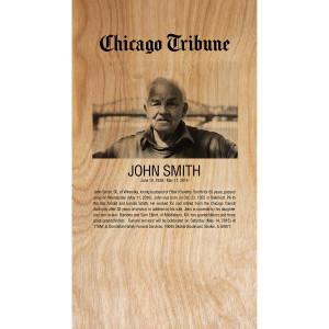 Custom Memorial Obituary Plaque