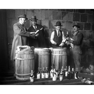 1925 Seized Liquor Photograph
