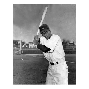 Ernie Banks Batting Pose Photograph
