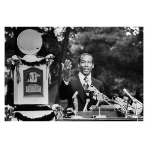 Ernie Banks National Baseball Hall of Fame Induction Photograph