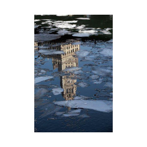 Wrigley Building Icy Reflection Photograph
