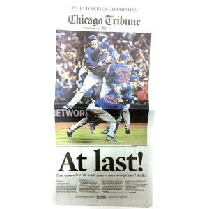 Chicago Tribune 11/3/2016 Back Issue
