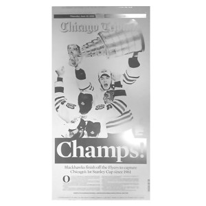 Chicago Tribune Blackhawks 2010 Championship Press Plate