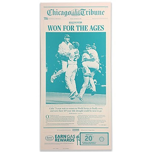 Chicago Cubs 'Won for the Ages' NLCS 10/23/2016 Front Page Press Plate