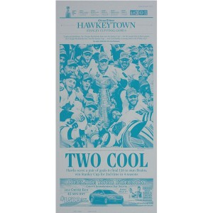 "Chicago Blackhawks 6/25/2013 Stanley Cup ""Two Cool"" Press Plate"