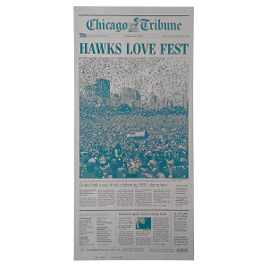 "Chicago Blackhawks Victory Rally ""Hawks Love Fest"" Press Plate"
