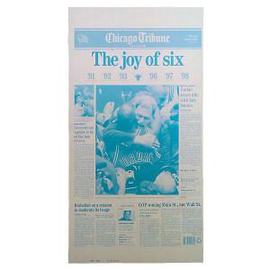 "Chicago Bulls 6th Championship ""The Joy of 6"" Press Plate"