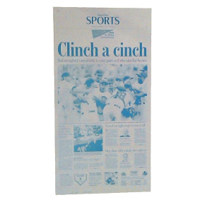 Chicago Cubs 'Clinch a cinch' Press Plate