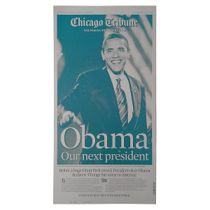 Obama Elected 2008 Chicago Tribune Cover Press Plate
