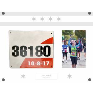 Marathon Personalized Chicago Flag Acrylic Frame