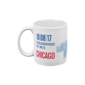 2017 Chicago Marathon Pixel Map Mug
