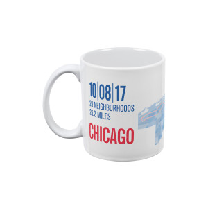 2017 Chicago Marathon Pixel Map Mug