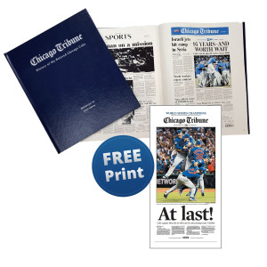 """History of the Beloved Chicago Cubs"" Personalized Newspaper Book"