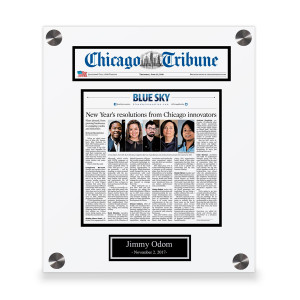 Chicago Tribune Custom Article Print Plaques