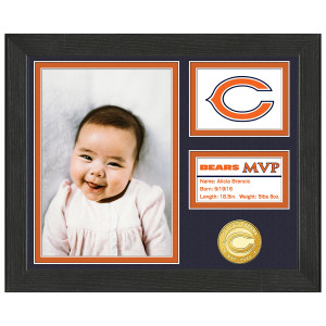 Chicago Bears Baby MVP Personalized Photo Frame