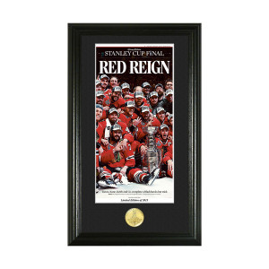 "Chicago Blackhawks 2015 Stanley Cup Champions ""Red Reign"" Bronze Coin Photo Mint"