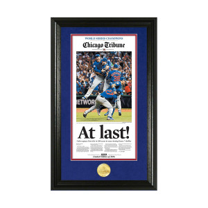 Chicago Cubs 2016 World Series Canvas Photo Mint