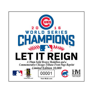 Chicago Cubs 2016 World Series Champions Photo Mint - Sports Section