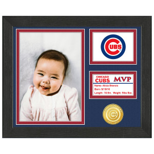 Chicago Cubs Baby MVP Personalized Photo Frame