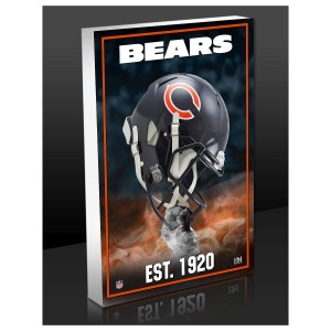 Chicago Bears Team Pride 3D Acrylic Block