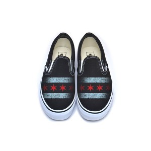 Chicago Flag Vans Classic Slip-On - Black
