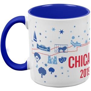 2019 Chicago Marathon Map Mug