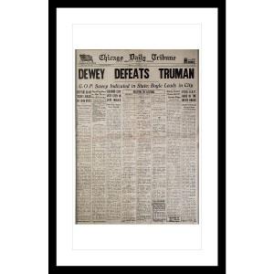 """""""Dewey Defeats Truman"""" 11/3/1948 Page Print"""