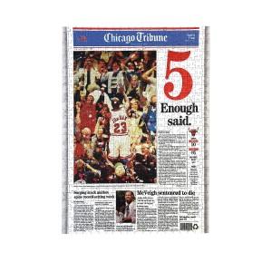 "Chicago Bulls 1997 Championship ""Enough Said"" Jigsaw Puzzle"