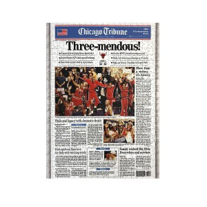 "Chicago Bulls 1993 Championship ""Three-mendous!"" Jigsaw Puzzle"