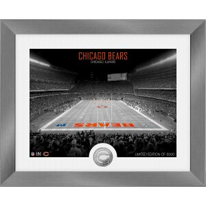 Chicago Bears Art Deco Stadium Silver Coin Photo Mint