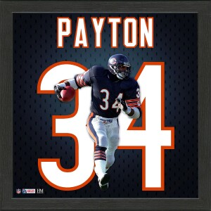 Walter Payton Impact Jersey Framed Photo