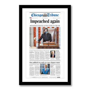"""""""Impeached again"""" 1/14/2021 Page Print"""