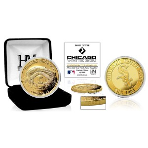 """Chicago White Sox """"Stadium"""" Gold Mint Coin"""