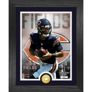 Justin Fields Chicago Bears Rookie Bronze Coin Photo Mint