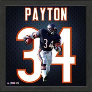 Walter Payton Impact Jersey Frame